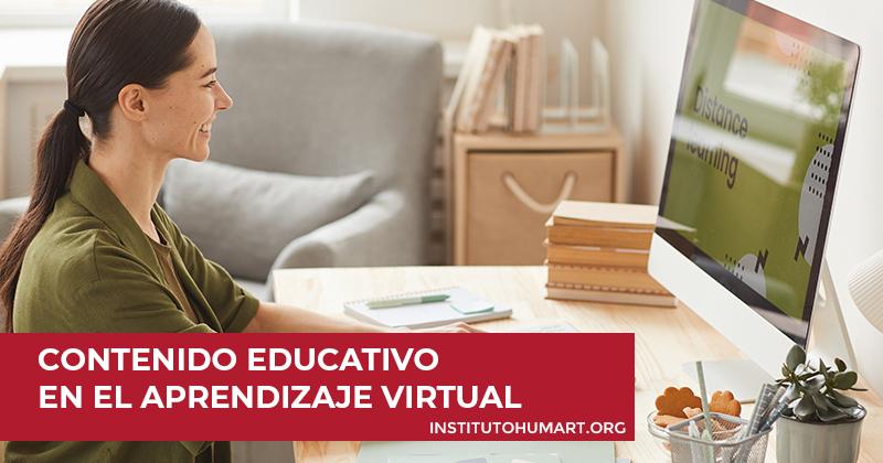 Contenido educativo en el aprendizaje virtual